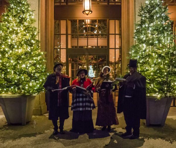 Carolers at Longwood Gardens in Kennett Square, PA