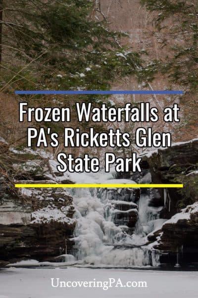 frozen waterfalls ricketts glen state park