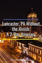 Itinerary for Lancaster, Pennsylvania