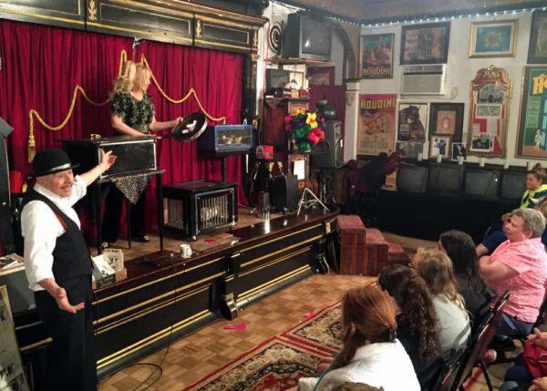 Magic show at the Houdini Museum in Scranton, PA