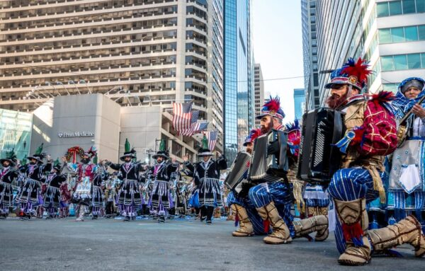 Mummers Parade main performing area