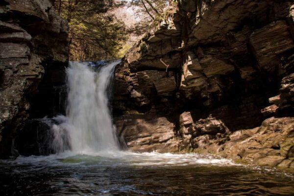 Rattlesnake Falls in southern Lackawanna County, PA
