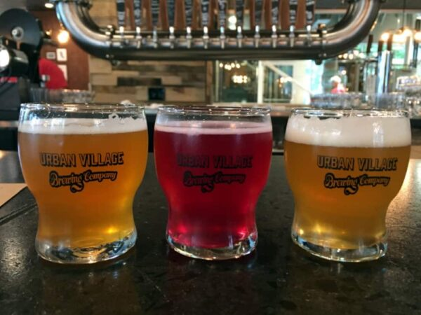 Beer Samplers at Urban Village Brewing Company in Philadelphia, Pennsylvania