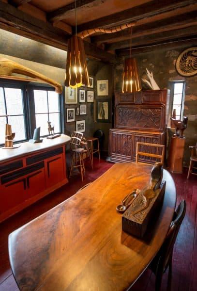 The studio at Wharton Esherick's house near Philadelphia, Pennsylvania