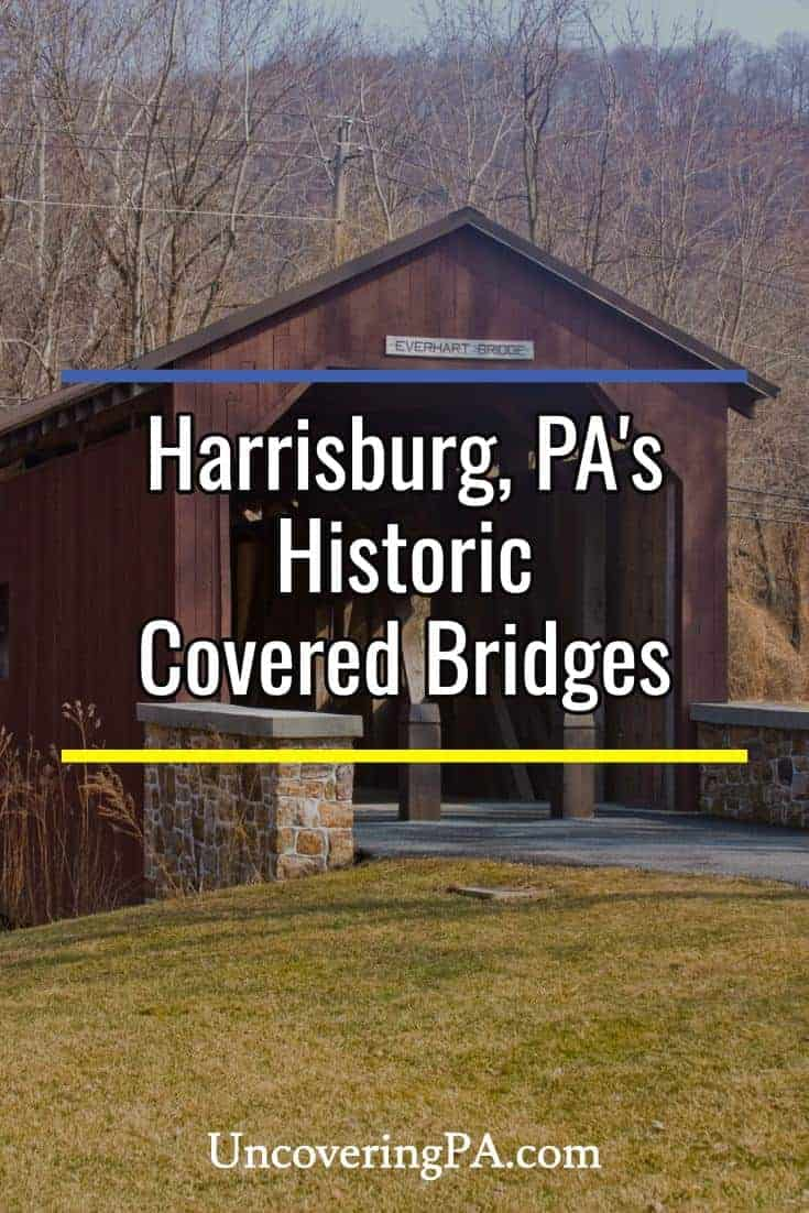 The historic covered bridges near Harrisburg, Pennsylvania