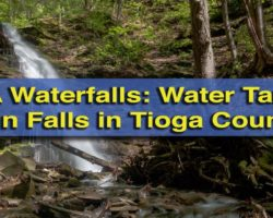 Pennsylvania Waterfalls: Water Tank Run Falls Along the Pine Creek Rail Trail