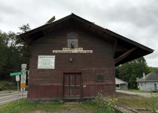 Exterior of the DL&W Station in Nicholson, Pennsylvania