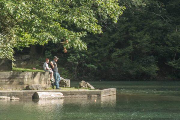 Fishing at Kooser State Park.