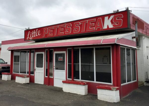 The exterior of Little Pete's Steaks in Philly