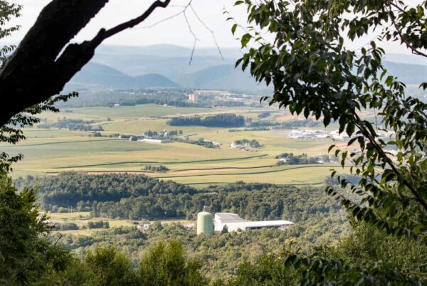 View of Happy Valley from Mount Nittany