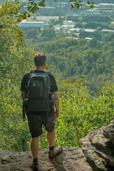 Hiking Mount Nittany to a vista