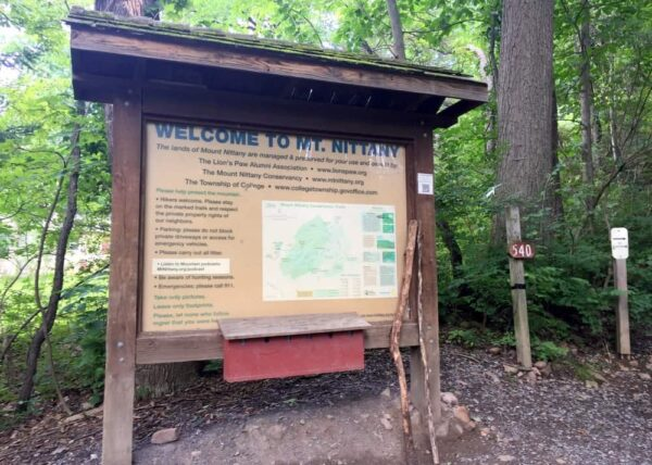 Mount Nittany Hiking Trailhead in State College, PA