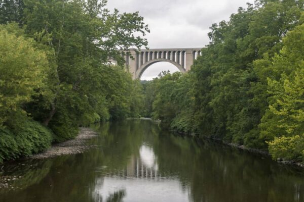 Tunkhannock Viaduct passing over Tunkhannock Creek in Nicholson, PA