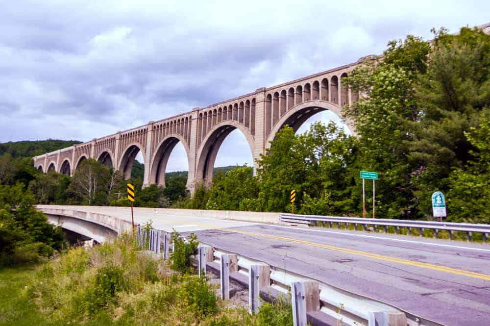 Tunkhannock Viaduct in Nicholson, PA crossing the valley