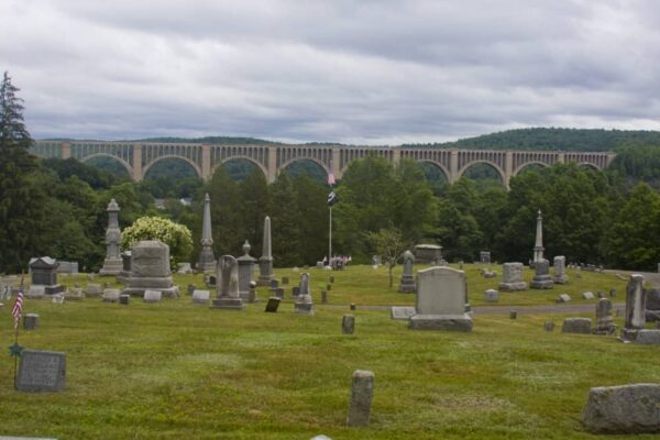 Nicholson Cemetery view of Tunkhannock Viaduct