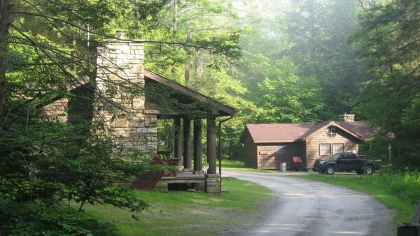 Cabins at Kooser State Park.