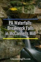 Pennsylvania Waterfalls: Breakneck Falls in McConnells Mill State Park
