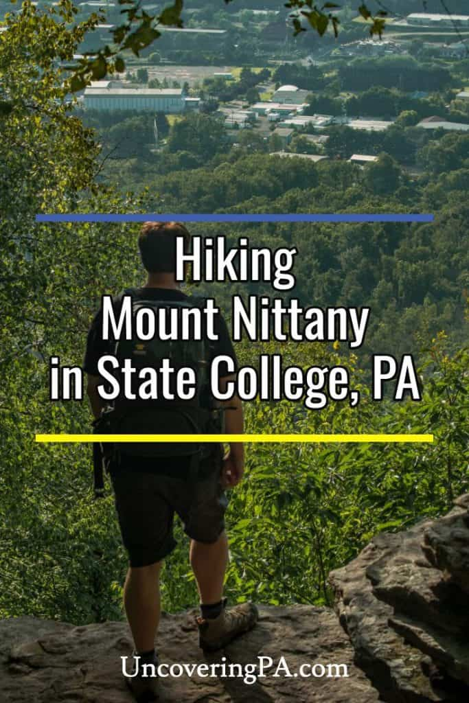Hiking Mount Nittany in State College, Pennsylvania