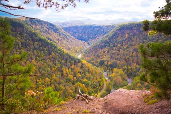 Hiking the Barbour Rock Trail in the Pennsylvania Grand Canyon