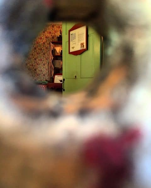 Bullet hole at the Jennie Wade House in Gettysburg, Pennsylvania