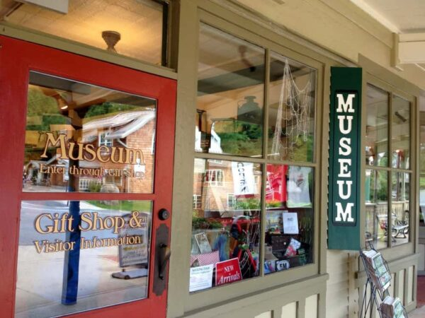 Entrance for the Eagles Mere Museum in Sullivan County, PA