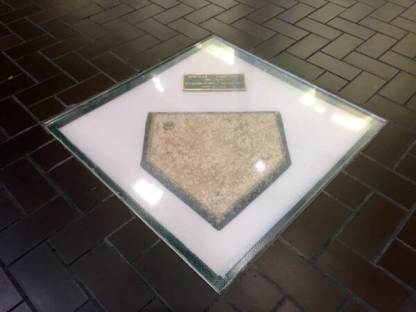 Forbes Field home plate in Posvar Hall in Pittsburgh, Pennsylvania