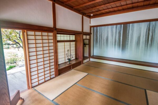 Inside Shofuso Japanese House in Philadelphia, PA