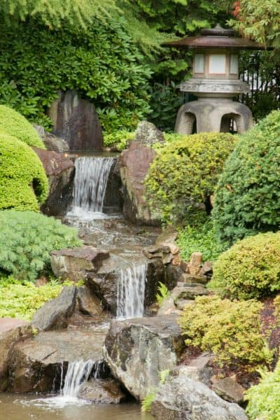 Waterfall at Shofuso Gardens in Fairmount Park