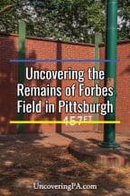 Visiting the Forbes Field wall in Pittsburgh, Pennsylvania