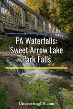 Pennsylvania Waterfalls: Sweet Arrow Lake Park Falls in Schuylkill County, PA