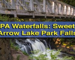 Pennsylvania Waterfalls: The Waterfall at Sweet Arrow Lake Park in Schuylkill County