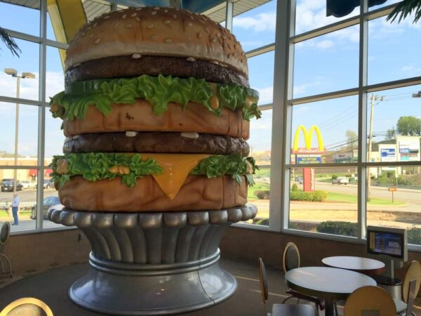 The giant Big Mac inside a McDonald's in Irvin, PA