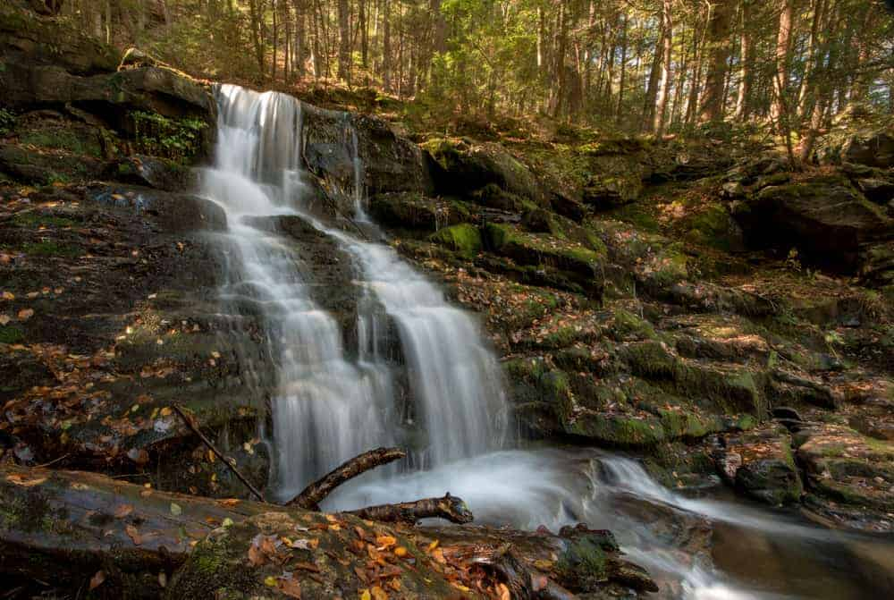 Lee Falls on the Loyalsock Trail in the Endless Mountains of PA