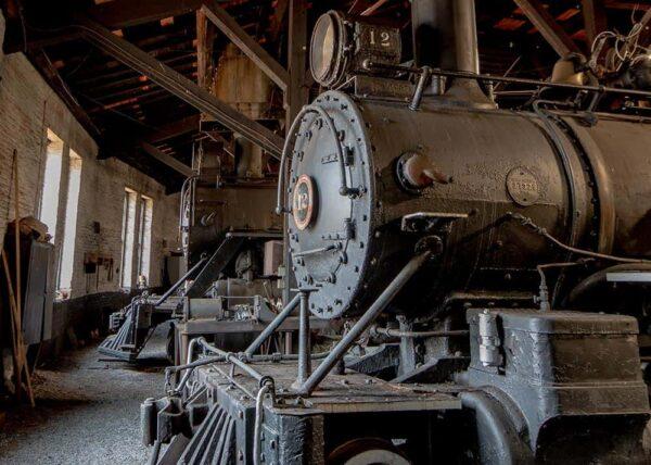 Inside the East Broad Top Railroad in Orbisonia, Pennsylvanai