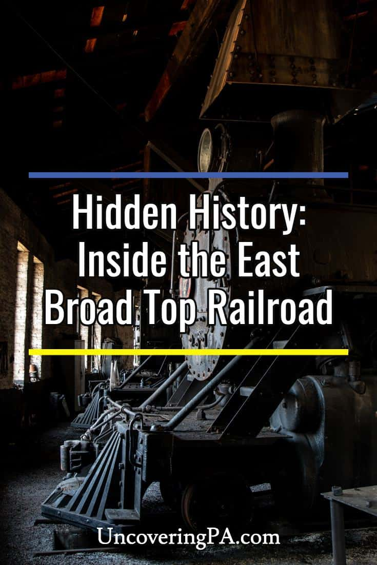 Inside the East Broad Top Railroad in Rockhill, Pennsylvanai