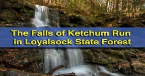 The waterfalls of Ketchum Run Gorge in Loyalsock State Forest