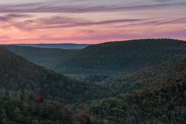 Canyon Vista during early fall foliage in Pennsylvania's Endless Mountains