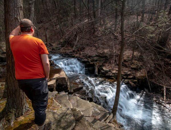 Hiking to Jarrett Falls near McConnellsburg, PA
