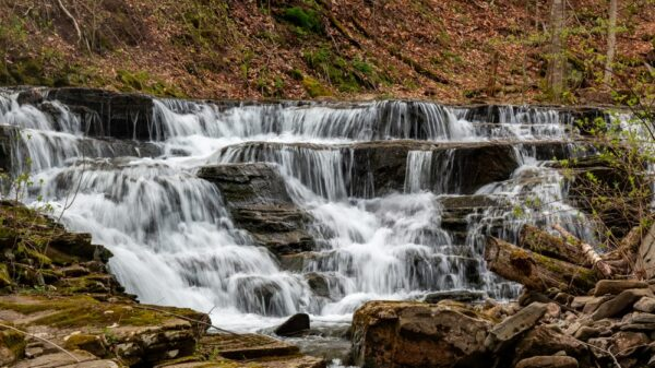 Waterfall on Quinn Run in State Game Lands 13