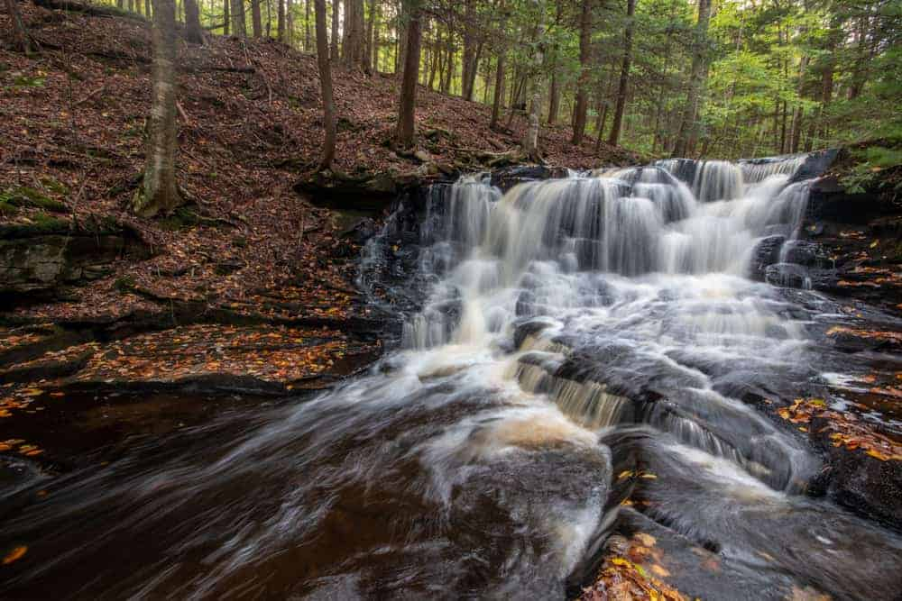 Rusty Falls in Loyalsock State Forest in Sullivan County PA