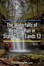 The waterfalls of Heberly Run in Pennsylvania's State Game Lands 13