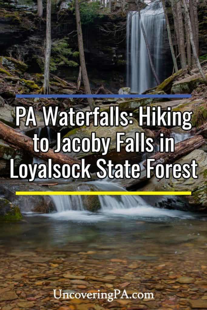 Hiking to Jacoby Falls near Williamsport, Pennsylvania