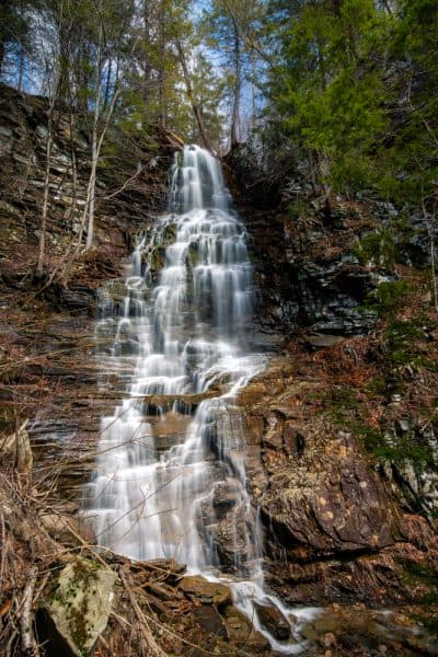 Angel Falls in Sullivan County, Pennsylvania
