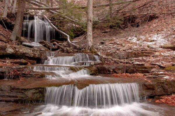 Waterfall on Falls Run in Loyalsock State Forest