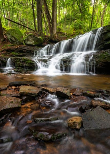 Logan Falls in Allegheny National Forest in the Pennsylvania Wilds