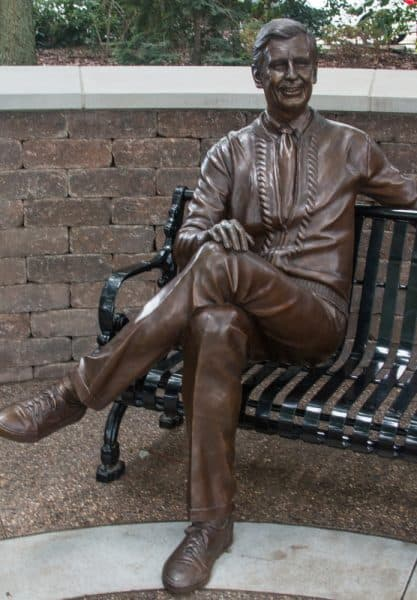 Mister Rogers statue in Latrobe, PA
