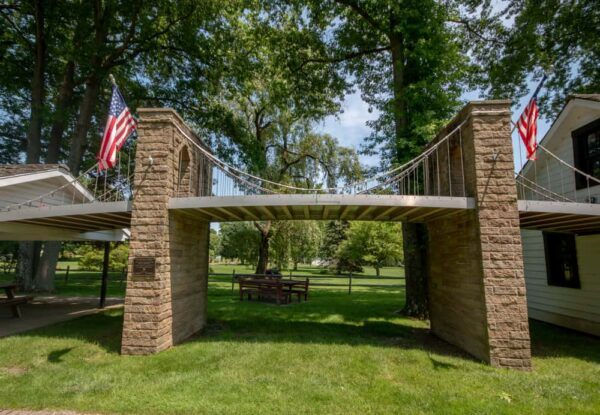 Replica of the Brooklyn Bridge in Saxonburg, PA