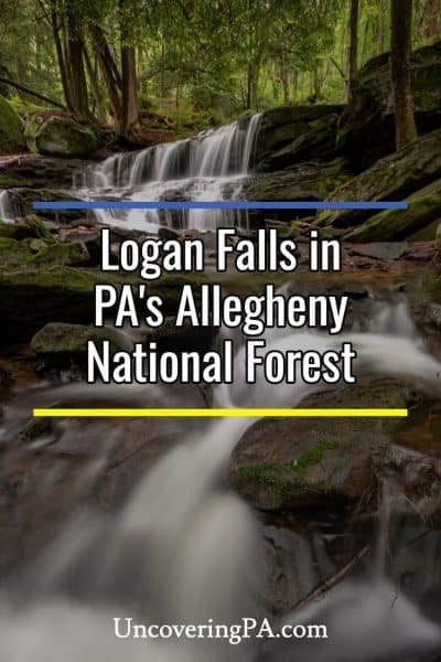 Logan Falls in Pennsylvania's Allegheny National Forest #Waterfalls