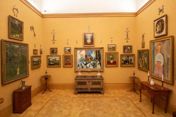 Inside the Barnes Foundation Museum in Philadelphia, Pennsylvania