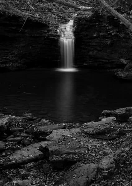 Cottonwood Waterfall in Worlds End State Park
